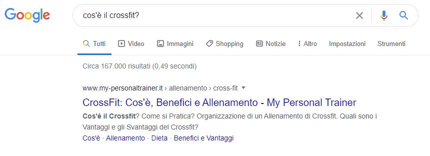 Esempio ricerca informazionale